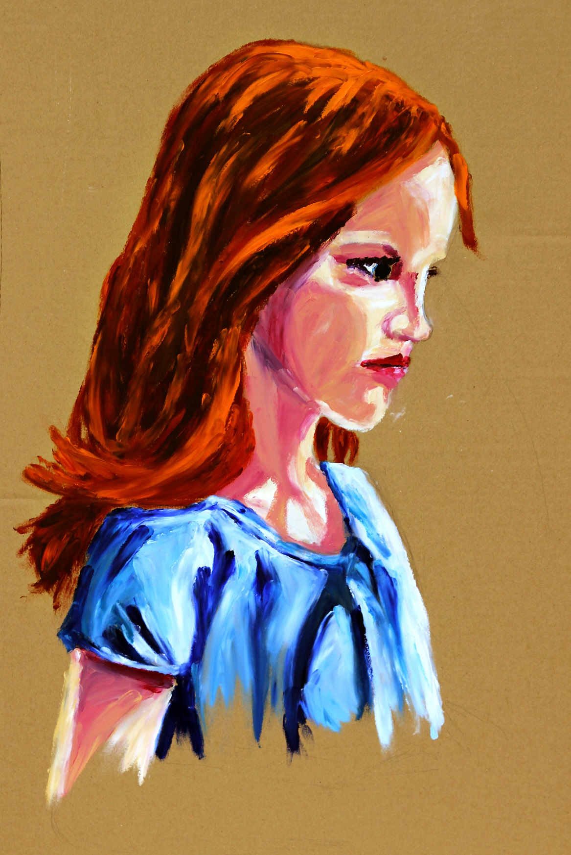 Girl with red hair 750