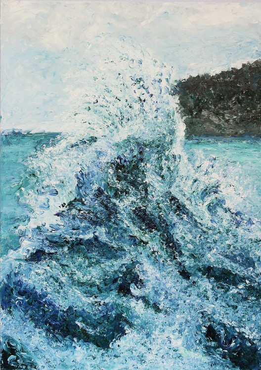 Wave 50x70cm Oil Fingerpainting